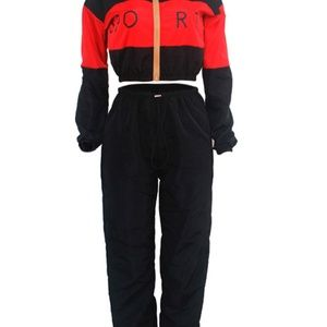 2 piece sweatsuit outfit